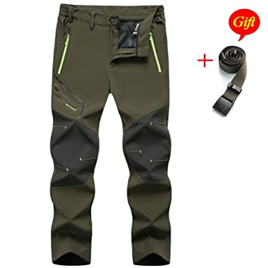 ec886dd010 MirFreyr Mens Outdoor Waterproof Hiking Pants Fishing Trousers Fleece Lined  Pant