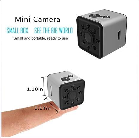 YAMEIJIA WiFi pequeña Mini cámara CAM, cámara Oculta inalámbrica SQ13 Full HD 1080P Impermeable Shell