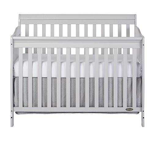 Dream On Me Ashton Convertible 5-in-1 Crib, Mystic Grey, 49 Pound - Cherry Wood Finish Bed
