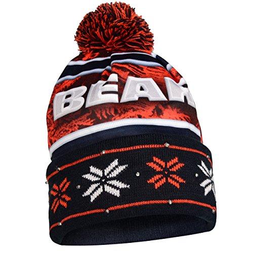 [해외]NFL 시카고 베어스 큰 로고 스카프 비니 워드 마크 모자와 글러브 플립 탑 3 팩 번들/NFL Chicago Bears Big Logo Scarf Beanie Wordmark Hat And Glove Flip Top