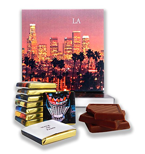 DA CHOCOLATE Candy Souvenir LOS ANGELES Chocolate Gift Set 5x5in 1 box (Red - Center Map Beverly