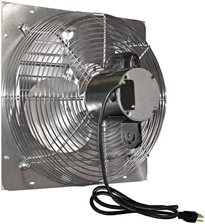 J and D VES161C 16 In. Shutter Exhaust Fan With Cord by J D Manufacturing