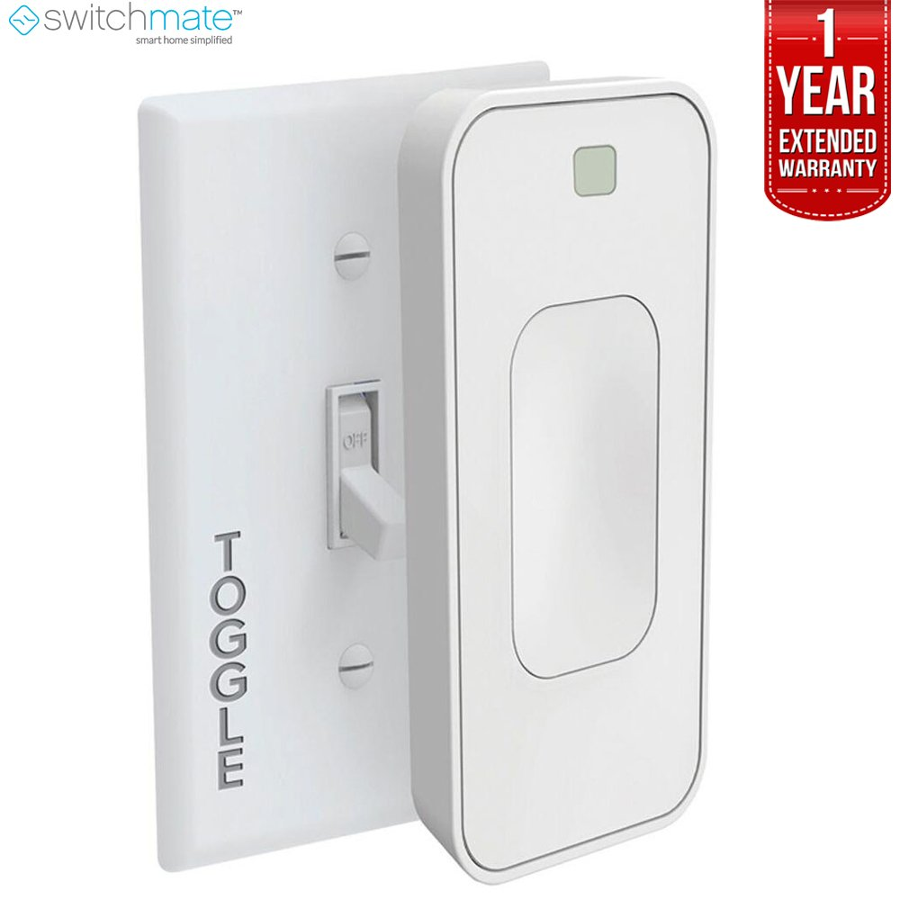 Switchmate TSM003W Motion Activated Instant Smart Light Switch Toggle That Listens 3.0 (White) + 1 Year Extended Warranty