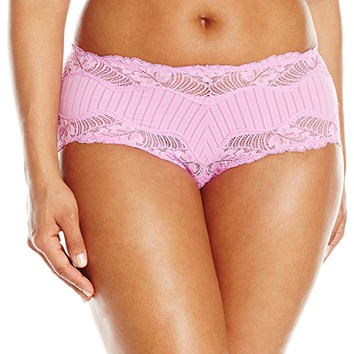 Paramour by Felina Women's Plus-Size Stripe Delight Hipster, Berry Gelato, Small