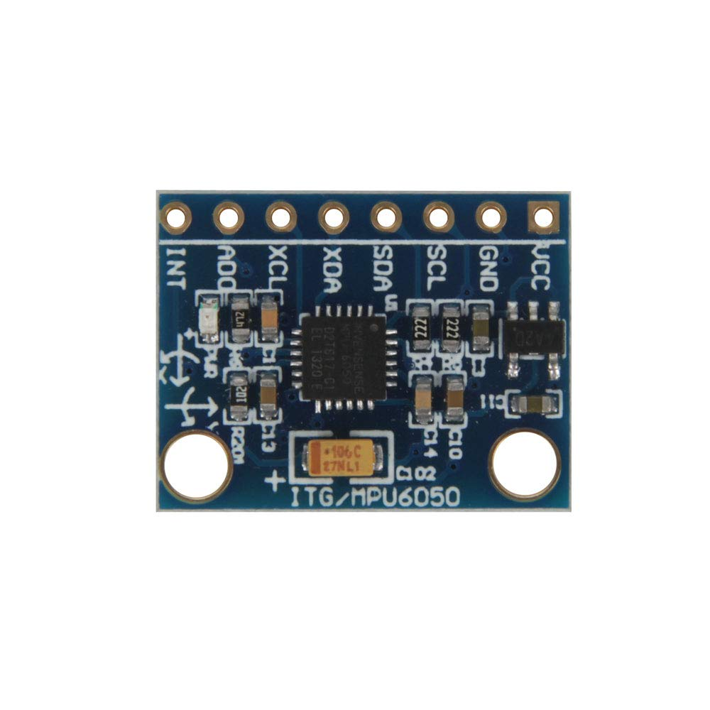 Jolicobo GY-521 MPU-6050 3 Axis Accelerometer Sensor Module 16 Bit AD Converter Data Output IIC I2C for Arduino