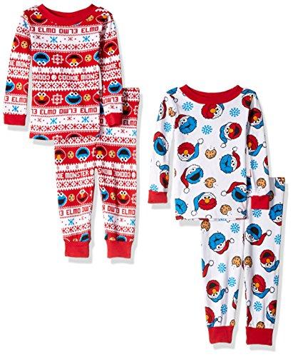 Sesame Street 4 Piece Cotton Pajama