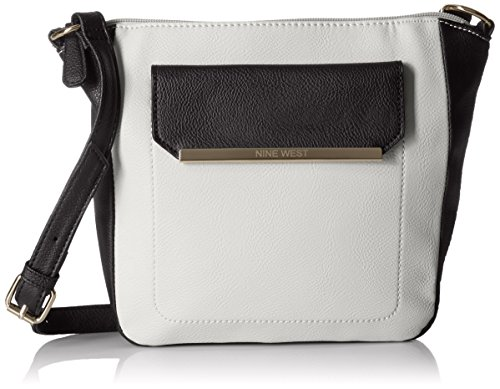 Nine West Mini Bar Crossbody, Light Cobblestone/Black