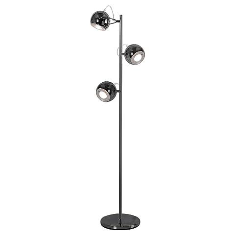 Retro Black Chrome 3 Way Adjustable Eyeball Floor Lamp: Amazon.co ...