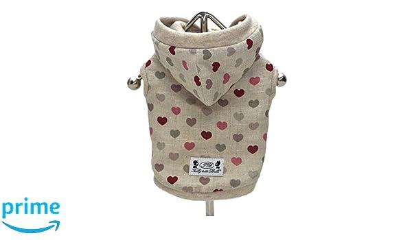Pegasus - Tutti Brilli Antea Bomber chaqueta con corazones para perros: Amazon.es: Productos para mascotas