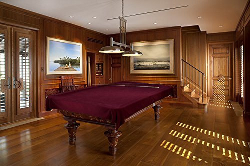 Custom cloth pool table cover, Burgundy, 8.5 (Billiard Pool Tablecloth Felt)