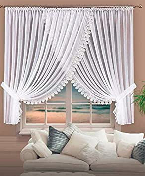Beautiful Voile Curtains/Pencil Pleat Curtains, Height 170X400 CM ...