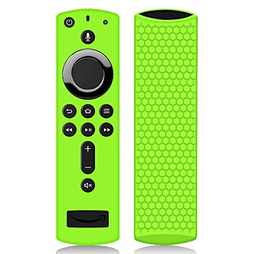 : Remote Case/Cover for Fire TV Stick 4K, Protective Silicone Holder Lightweight [Anti Slip] ShockProof for Fire TV Cube/Fire TV(3rd Gen)Compatible with All-New 2nd Gen Alexa Voice Remote Control-Green