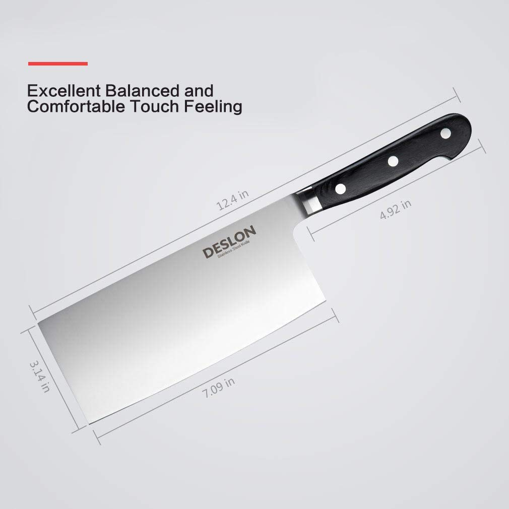 Amazon.com: Deslon 7 inch verduras Cleaver – Cuchillo de ...