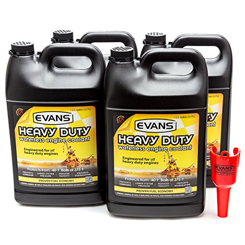 Evans Coolant EC61001 Heavy Duty Waterless Coolant, 4 Gallon Pack with Funnel by EVANS