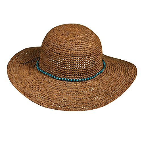 new-callanan-crocheted-raffia-straw-faux-turquoise-bead-band-floppy-sun-hat-cr198