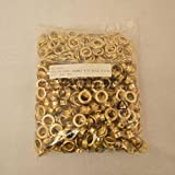 ALEKO 500pc Sheet Metal Grommet And Neck Washer Brass #3 (7/16'')