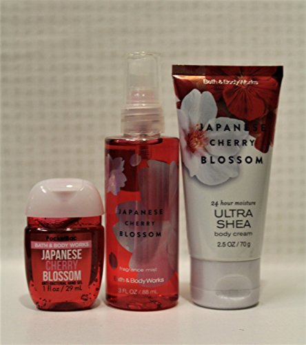 Bath & Body Works - Japanese Cherry Blossom - On-The- Go - Gift Set - Japanese Cherry Blossom Gift