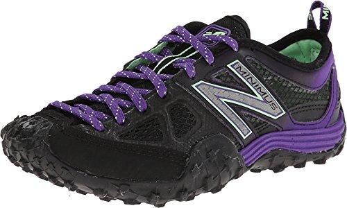 New Balance Women's WX007 Minimus Training Shoe,Black/Purple,11 B US