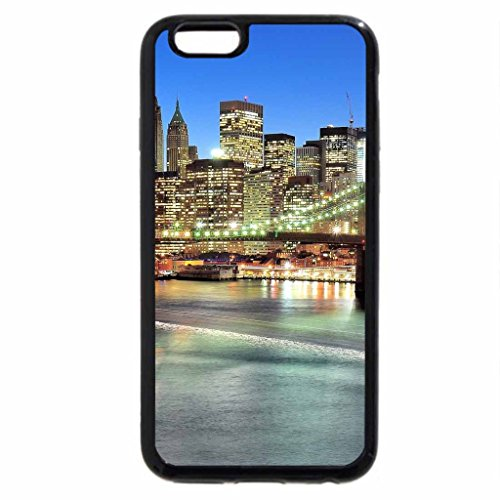 iPhone 6S / iPhone 6 Case (Black) Big City Bridge