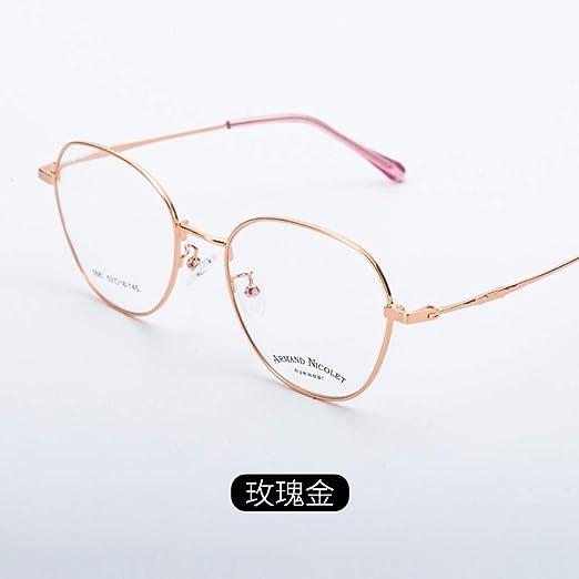 Yangjing-hl Nuevas Gafas poligonales con Montura para Gafas Gafas ...