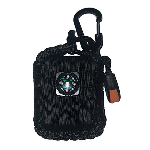 DURO GEAR Paracord Grenade Emergency Survival Kit - Fishing Hiking Camping Fire Starter - 26 in 1 Tools -