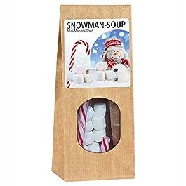 Geschenktüte Snowman Soup – Marshmellows mit Zuckerstange