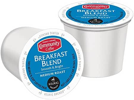 Community Coffee K-Cup Pods, Breakfast Blend, 12 Count (Pack of 6)