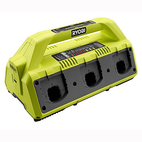 Ryobi P135 18V One+ 6 Port Lithium Ion Battery Supercharger (18V Batteries Not Included/Charger Only) (Ryobi One Multi)