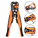 Wire Stripping Pliers,Self-adjusting Cable Cutter Crimper,NM Wire Stripping Tool for Industry - Orange