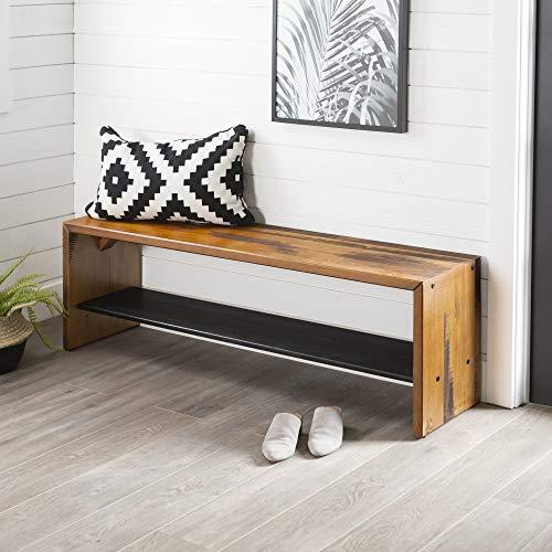 Amazon.com: WE Furniture - Mesa de entrada (madera reciclada ...