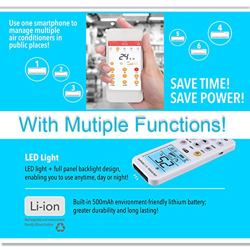 CHUNGHOP Air Conditioner Remote K390EW APP Phone WiFi Universal AC