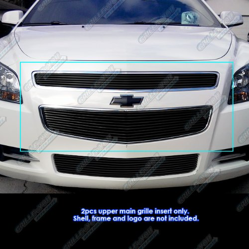 APS Compatible with 2008-2012 Chevy Malibu Black Billet Grille Grill Insert S18-H08766C