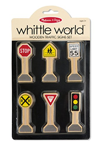 Melissa Amp Doug Whittle World Wooden Traffic Signs Play