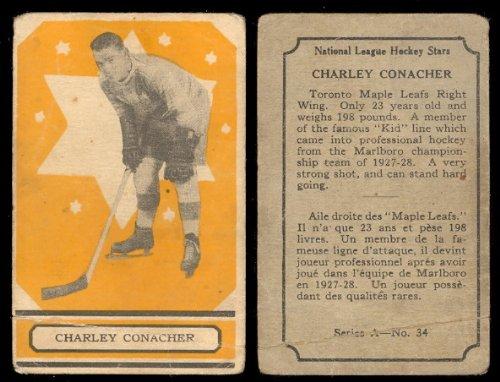 1933-O-Pee-Chee-V304A-Hockey-Card-34-charlie-conacher-rc-of-the-Toronto-Maple-Leafs-Good-Condition