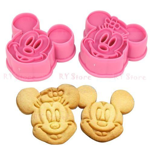 (1 Set Cute Mickey Mouse Design Baking Cookie Fondant Cake SugarCraft Biscuit Chocolate Clays DIY Modelling Paste Decorating Plunger Cutter Stamp Pull Press Mold Tools)