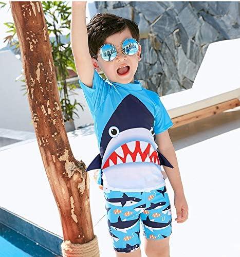 キッズ 水着 男の子 3点セット 子供用 ラッシュガード スイムウェア ボーイズ 水着上下セット セパレート型 スイミング ジュニア水着 水泳キャップ付き 日焼け防止 海水浴・プール・水遊び ・温泉用に最適