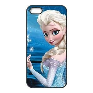 iPhone 5,5S Phone Case Black Frozen Elsa DZW9555765