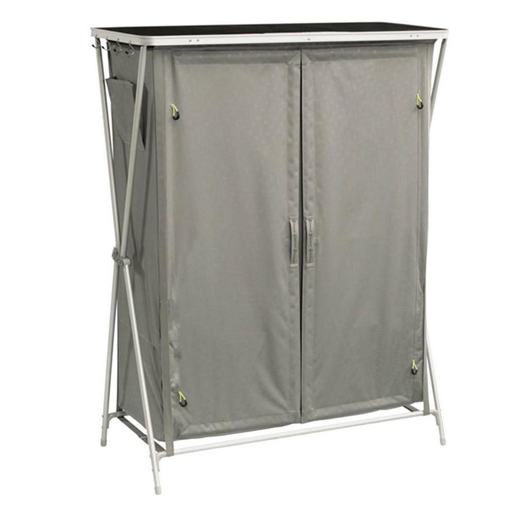 Outwell Martinique Armario de Camping Gris 8 estanterías Plegable - Armarios de Camping (1,35 kg, 1070 mm, 500 mm, 1380 mm, 1070 mm, 730 mm) 530093
