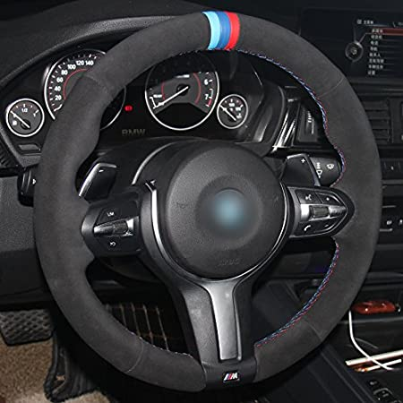 MEWANT Customized Car Steering Wheel Cover for BMW F87 M2 2015-2017 F80 M3 2014-2017 F82 M4 2014-2017 M5 F12 F13 M6 F85