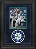"""Sports Memorabilia Seattle Mariners Deluxe 8"""" x 10"""" Vertical Photograph Frame with Team Logo - Baseball Other Display Cases"""