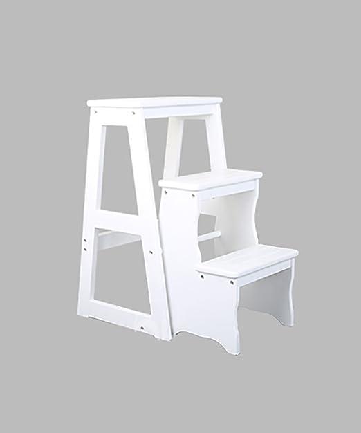 ZENGAI Escalera Madera Sillas escalera multifunción Nórdico Creative cuatro capas Plegable Multilayer Silla de madera maciza Escaleras escaleras taburete escalera Biblioteca# (Color : B) : Amazon.es: Hogar