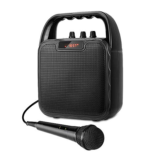 ARCHEER Portable PA Speaker System, bluetooth Speaker with Microphone, Karaoke Machine Voice Amplifier Handheld Mic Perfect for Party,Karaoke and other Outdoors and Indoors Activities (Speaker Microphone Portable)