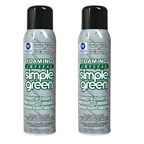 Degreaser Aerosol (Simple Green 19010 Foaming Crystal Industrial Cleaner/Degreaser, 20oz Aerosol Can (2 Pack))