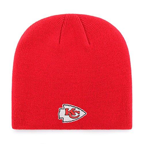 OTS Adult Men's NFL Beanie Knit Cap, Team Color, One Size (New Era Chiefs Beanie)
