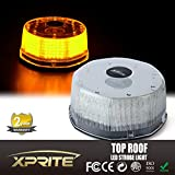 Xprite Sunbeam Series Amber 14 Modes 16W 240-LED High Intensity Emergency Vehicle Strobe and Rotating Light Beacon with Magnetic Mounts