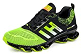 Weishan Black Springblade Jogging Shoes for Mens mesh Breathable Slip on Comfortable Boys Trail Running Shoes Outdoor Travel Shoes Size 10 (656-green-44)