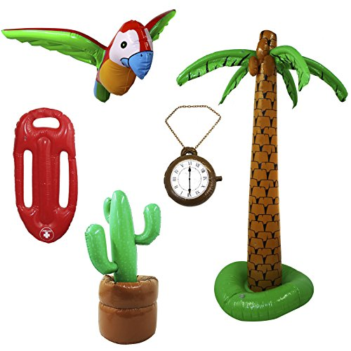 INFLATABLE FLOAT FANCY DRESS PARTY LIFE GUARD TROPICAL BEACH PARTY DECORATION ILOVEFANCYDRESS® SIZE: 73CM - PACK OF 1
