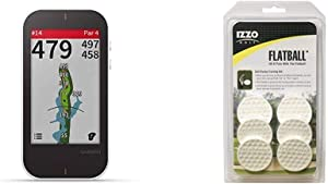 Garmin Approach G80 - All-in-one Premium GPS Golf Handheld Device with Integrated Launch Monitor & Izzo Golf Flatball Swing Golf Training Aid