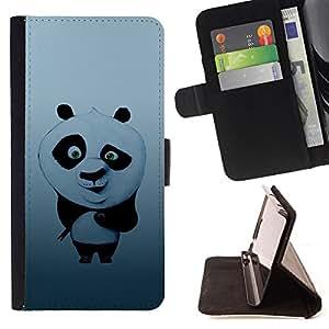 KingStore / Leather Etui en cuir / Apple Iphone 5C / Sushi lindo Panda
