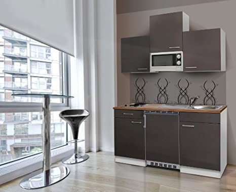 respekta kb150wgmi - Modulo da cucina, colore: grigio: Amazon.it ...